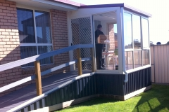 D Sunroom Extension on Unit with Modwood Ramp